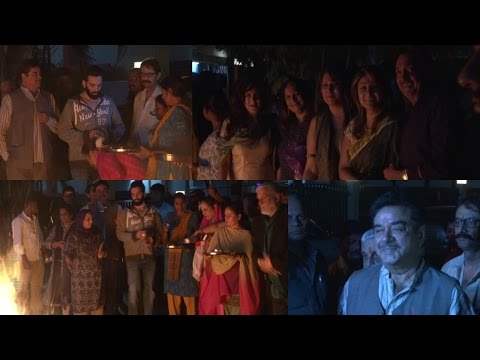 Shatrughan Sinha Family Holika Dahan Celebration