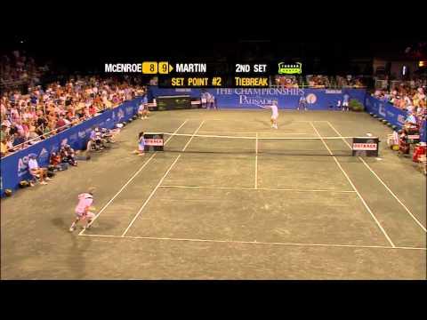 Todd Martin vs John McEnroe Champions Series Tennis