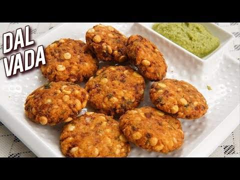 Dal Vada Recipe – How To Make Dal Vada At Home – South Indian Snack – Crispy Vada Recipe – Ruchi