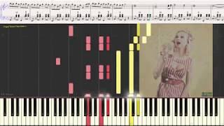 Воздушная кукуруза (Ноты и Видеоурок для фортепиано) (piano cover)