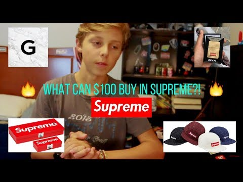 WHAT CAN $100 BUY YOU IN SUPREME?? (CLOTHING AND MORE)!!