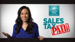 Sales Tax Paid Sale at Carpet One