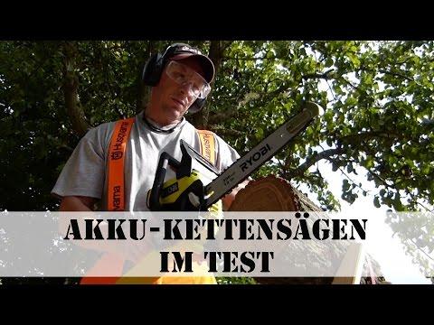 Akku-Kettensägen im Test