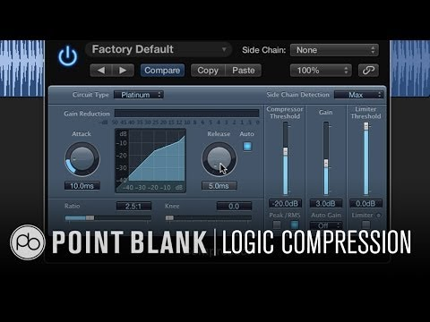 compression - http://www.pointblankonline.net/mixing-dance-music.php - In this video Danny J Lewis defines the terms, threshold, ratio and gain reduction to help explain t...