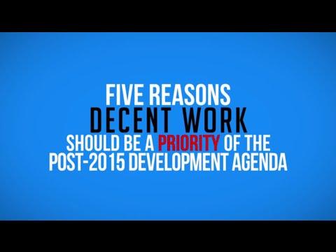 development goals - The Millennium Development Goals set targets for 2015. As the process to define a new set of global development goals gains momentum, creating decent and pro...