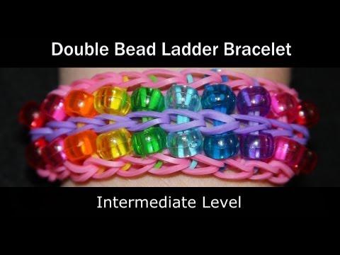 Rainbow Loom® Double Bead Ladder Bracelet