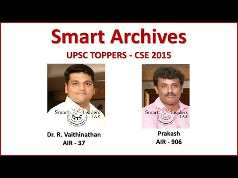 Smart Archives | Dr. R. Vaithinathan & Prakash | CSE 2015 Toppers