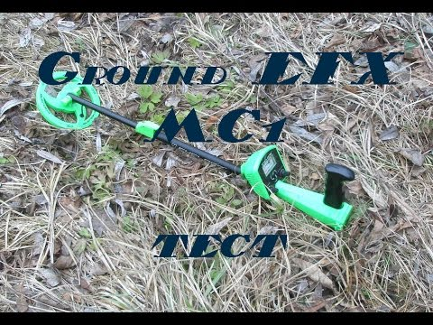 Ground efx cyclone mc1 metal detector. Air test.