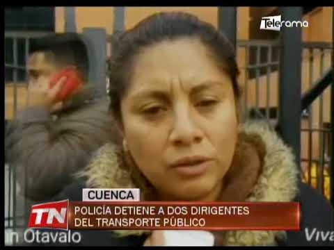 Policía detiene a dos dirigentes del transporte público