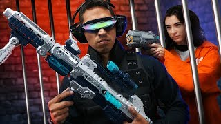 Video NERF Robot Prison Escape Challenge! MP3, 3GP, MP4, WEBM, AVI, FLV Desember 2018