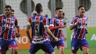 Com noite inspirada de Juninho e Jean, Bahia bate o Galo no Horto e se afasta do Z4.Gols: Juninho (2).