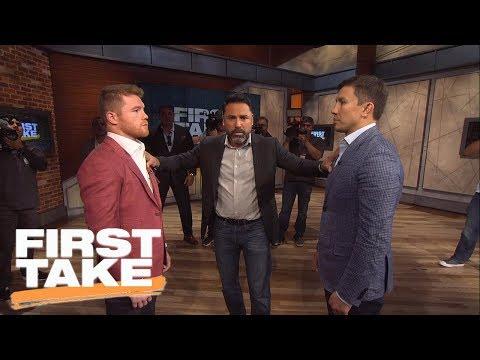 Canelo, GGG And Oscar De La Hoya Join First Take | First Take | June 21, 2017 (видео)