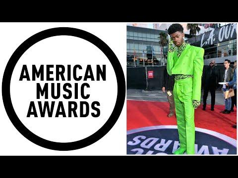 Lil Nas X AMA Fashions Red Carpet 2019