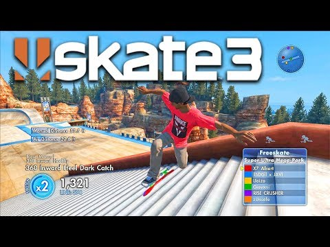 Skate 3 - 4 OF THE BEST PLAYERS IN THE SKATE 3 COMMUNITY | X7 Albert