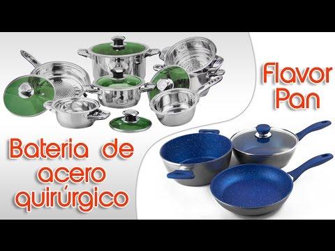 Baterias Para Cocina Duraderas Flavotr Pan y Bateria De Acero Quirúrgico 12 Piezas