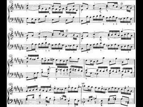 Bach - Prélude et Fugue no.3 en Do# Majeur, BWV 848