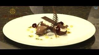 Ruth Hinks World Chocolate Master creates Chocolate plated desserts