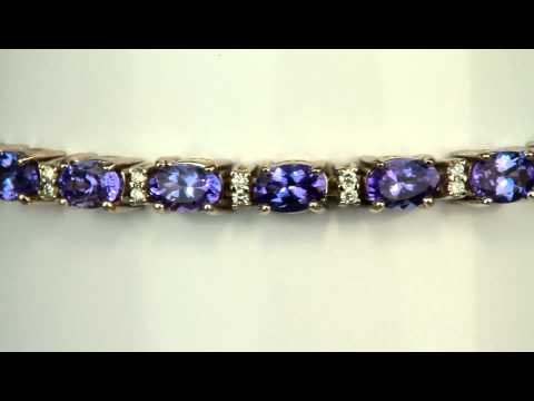Tanzanite Bracelet With Over 11 carats of Intense Color Tanzanites