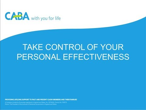 Taking control of your personal effectiveness