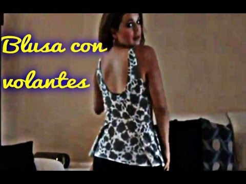 Como Hacer Una Blusa Con Volantes  DIY  How To Make A Blouse With Ruffles