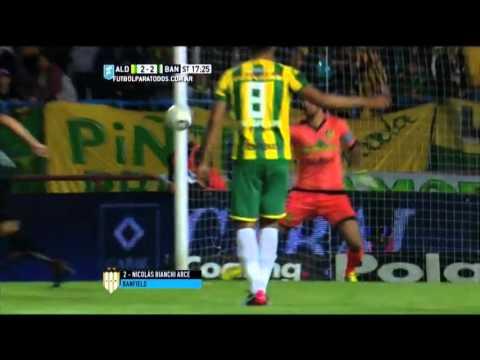 Gol de Bianchi Arce. Aldosivi 2 – Banfield 2. Final Liguilla Pre Sudamericana 2015