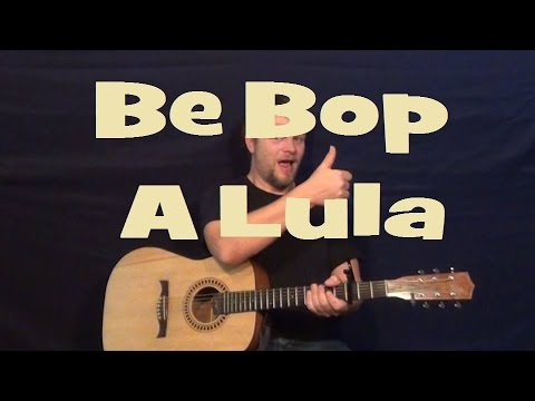 How To Play Be Bop A Lula