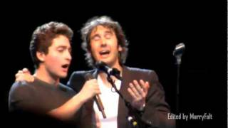 Video A young man in the audience sings with Josh Groban & shocks him! - Josh Page (FORTE on AGT) MP3, 3GP, MP4, WEBM, AVI, FLV Juli 2018