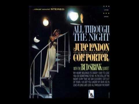 Tekst piosenki Julie London - All Through the Night po polsku