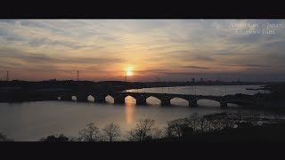 Shining Teganuma Lake Abiko City Japan long ver 輝く手賀沼