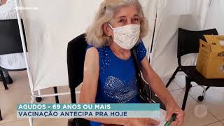 Começa amanhã vacina para mais de 69 anos em Bauru