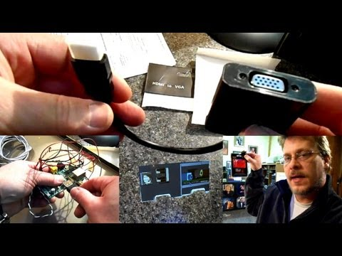 HDMI to VGA Converter for Raspberry Pi & New Pi Enclosure Design Idea
