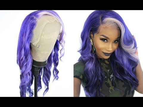 Hair color - Valentine's day hair! Watch me water color this 613 hair ombré purple ft Ishow hair