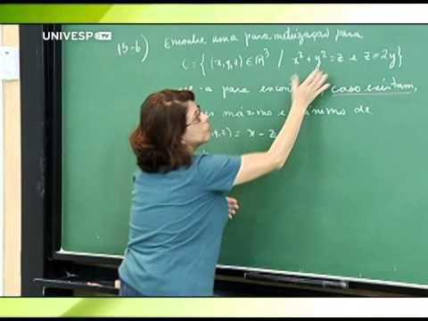 Cálculo II - Aula 24 - Parte 1 - Exercícios sobre parametrização de curvas, reta tangente e determinação de máximos e mínimos de uma função restrita