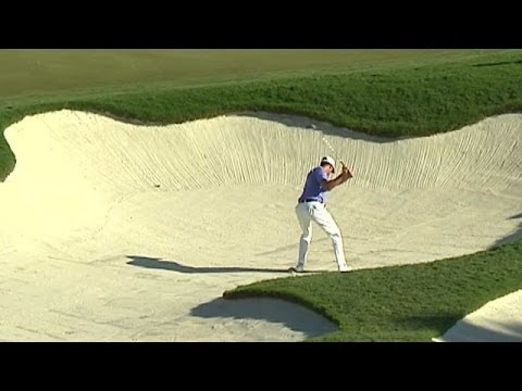 Shot - In the third round of the 2014 World Golf Championships - Cadillac Championship, Harris English holes his 2nd shot from the greenside bunker for eagle at the...