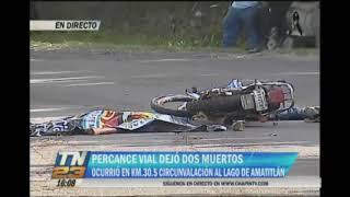 Accidente de tránsito dejó dos personas muertas