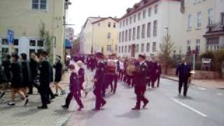 Minden Germany  City pictures : Marching band in Minden, Germany - Freischiessen