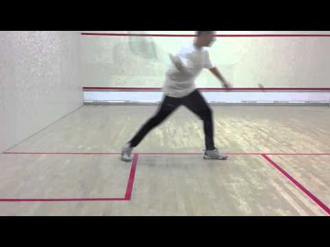 Squash steps to success 12: Squash service tips & squash serve tips: Stepping in