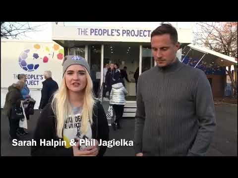 Sarah chats with Everton Captain Phil Jagielka