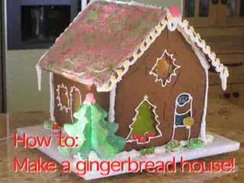gingerbread - India Galyean shows you step by step how to make a gingerbread house.