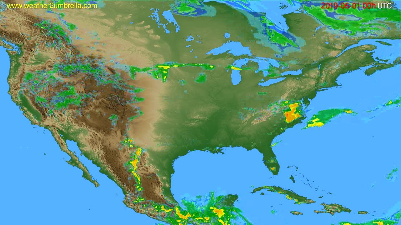 Radar forecast USA & Canada // modelrun: 12h UTC 2019-05-31
