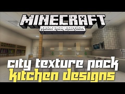 Minecraft Xbox 360: Kitchen Inspiration and Ideas! (City Texture Pack)