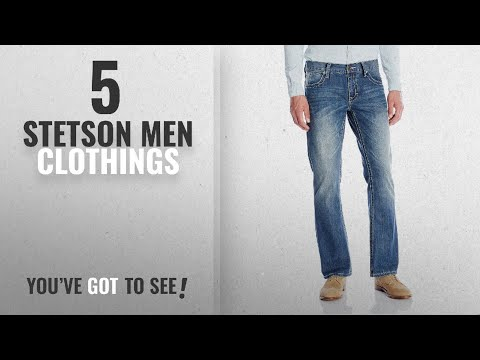 Top 10 Stetson Men Clothings [ Winter 2018 ]: Stetson Men's Rocker Fit with Lower Rise and Slightly
