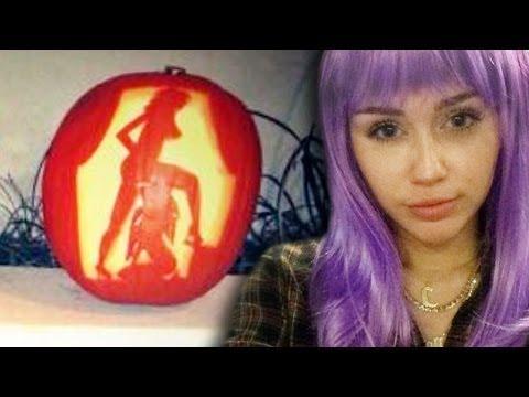 Miley Cyrus' PORN Pumpkins & Crazy Halloween Costume!