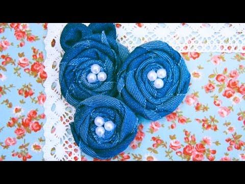 Мастер класс цветок из джинсовой ткани своими руками