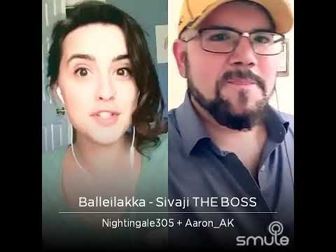 Video American and Canadian singers singing Balleilakka  SIVAJI  song together.. download in MP3, 3GP, MP4, WEBM, AVI, FLV January 2017