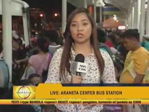 Bus passengers struggle to get ride during the Holy Week