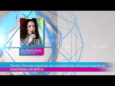 Daniel y Rosario expresan sus condolencias a Evo por muerte de viceministro de Bolivia
