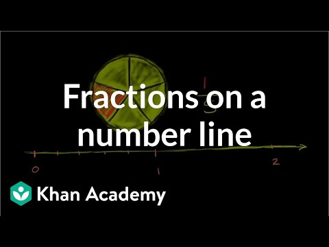 fractions on a number line video  khan academy