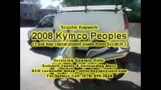 6. Atlanta GA: 2008 Kymco Peoples 50cc Scooter - Lost Key Made!