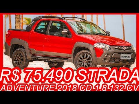 SLIDES R$ 75.490 #Fiat #Strada Adventure 2018 CD 1.8 Etorq Flex 132 cv #FiatStrada